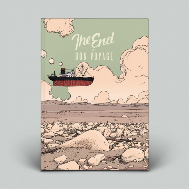 The End of Bon Voyage Blackyard Illustration Posters Berne Switzerland