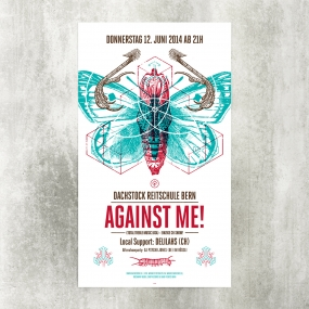 Against Me! Blackyard Illustration Posters Berne Switzerland