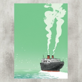 Bon Voyage Blackyard Illustration Posters Berne Switzerland