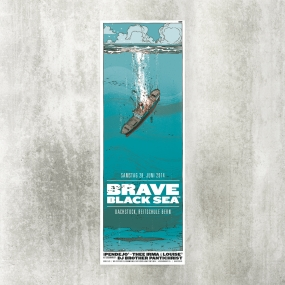 Brave Black Sea 2014 Blackyard Illustration Posters Berne Switzerland