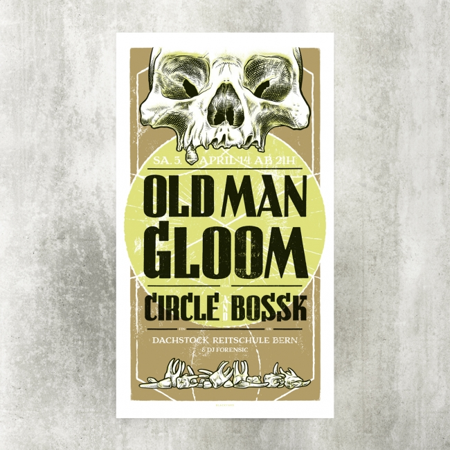 Old Man Gloom Blackyard Illustration Posters Berne Switzerland